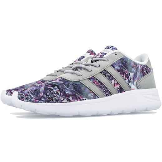 Buty sportowe damskie Adidas sznurowane zamszowe w kwiaty na