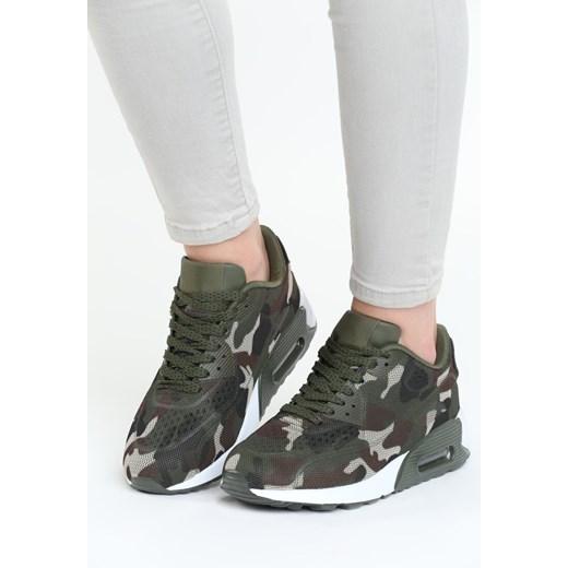 Buty sportowe damskie Born2be sneakersy w stylu militarnym wiązane
