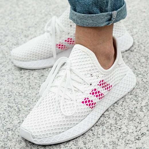Buty sportowe damskie Adidas do biegania sznurowane płaskie