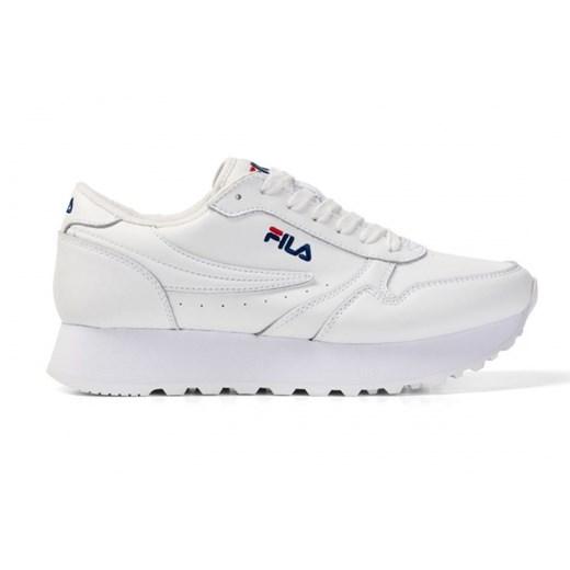 Sneakersy damskie Fila sznurowane bez wzorów skórzane
