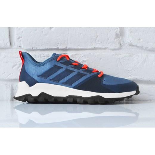 Buty sportowe męskie niebieskie Adidas na wiosnę wiązane w