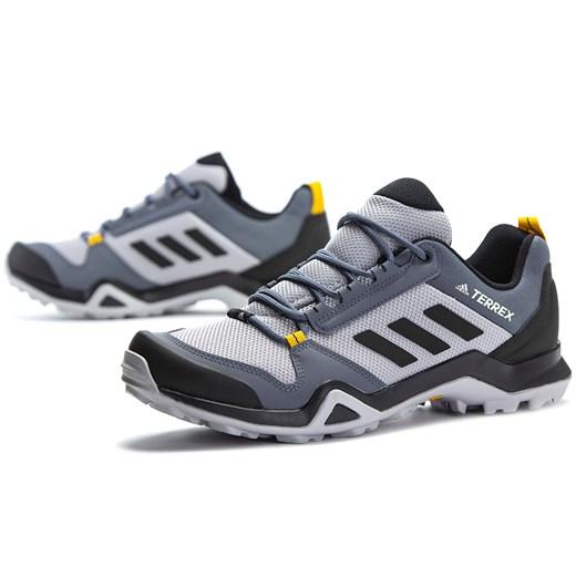Niebieskie buty sportowe męskie z paskami, adidas terrex