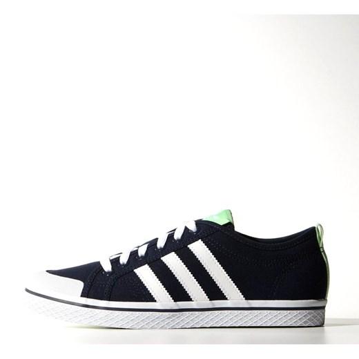 Trampki damskie Adidas czarne bez wzorów sznurowane sportowe