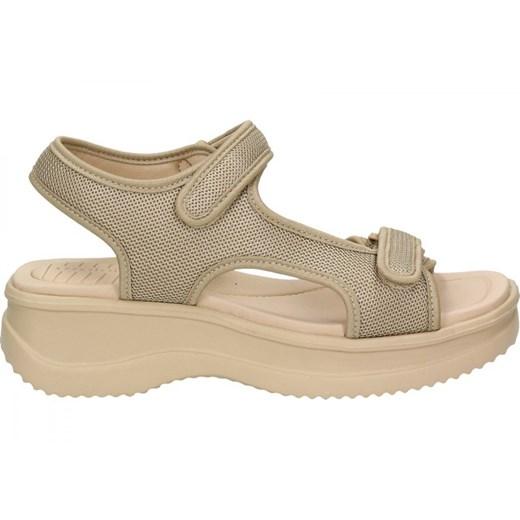Sandały damskie Azaleia na koturnie bez wzorów na lato