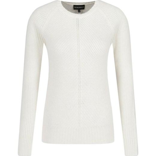 Sweter damski biały Emporio Armani casualowy w Domodi
