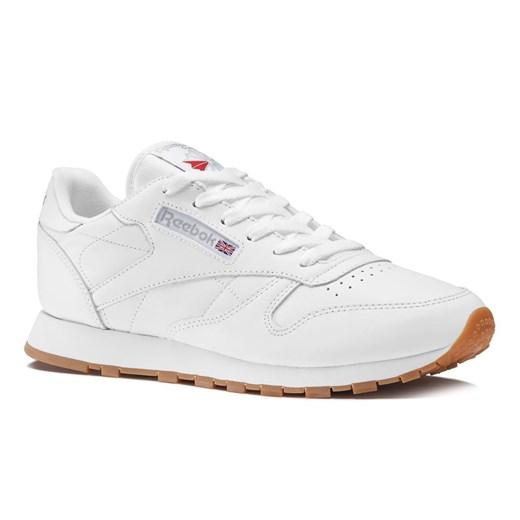 Buty sportowe damskie Reebok białe skórzane wiązane bez