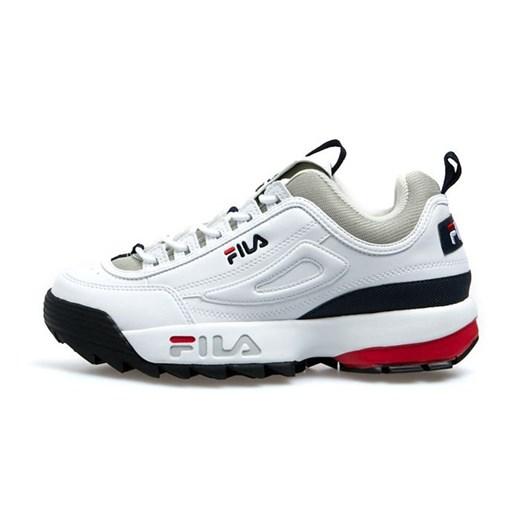 Sneakersy damskie Fila białe sznurowane sportowe gładkie w