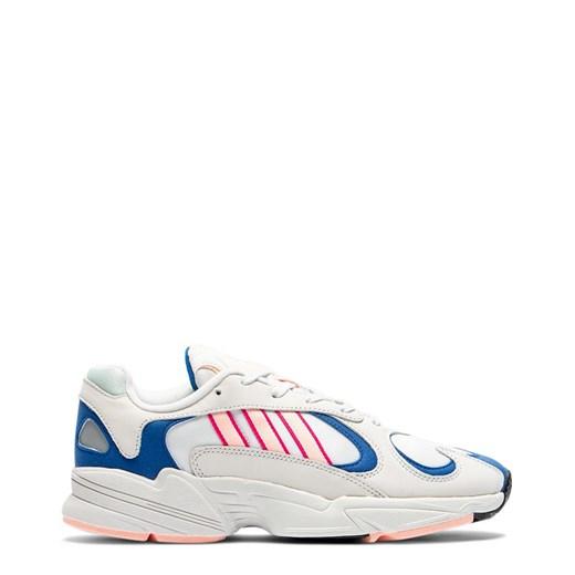 Buty sportowe damskie Adidas białe wiązane na płaskiej podeszwie