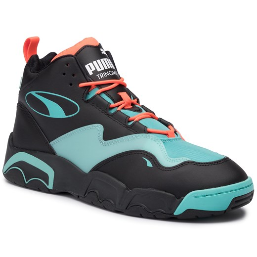 Sneakersy PUMA Source Mid Buzzer 370598 01 P BlkNrgy RedBlue Turquoise