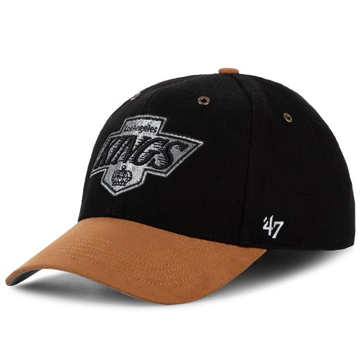 Czapka z daszkiem 47 BRAND - Los Angeles Kings Willowbrook  HVIN-WLOBM08WMS-BK88 Black 47 Brand   eobuwie.pl