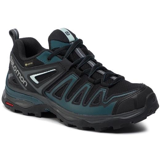 Buty trekkingowe damskie Salomon bez wzorów gore tex płaskie