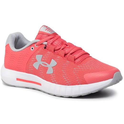 Buty sportowe damskie Under Armour do biegania na płaskiej podeszwie bez wzorów