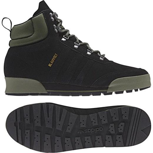 Buty zimowe m?skie Adidas z zamszu na zim? sznurowane