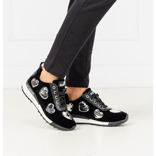 Love Moschino buty sportowe damskie sneakersy czarne na koturnie