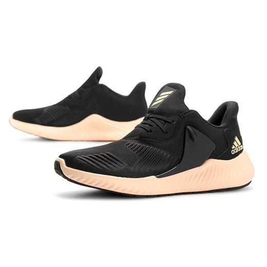 Buty sportowe damskie Adidas do biegania alphabounce bez wzorów sznurowane