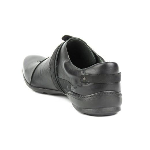 buty męskie skórzane casual na rzepy