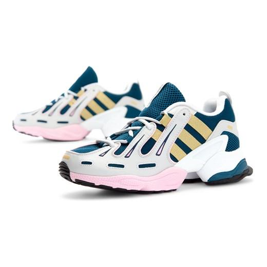 Buty sportowe damskie Adidas dla biegaczy eqt support gładkie skórzane płaskie sznurowane