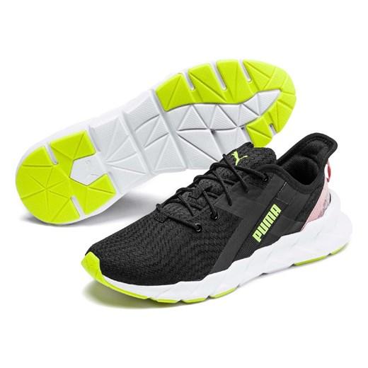 Buty sportowe damskie czarne Puma z gumy bez wzorów