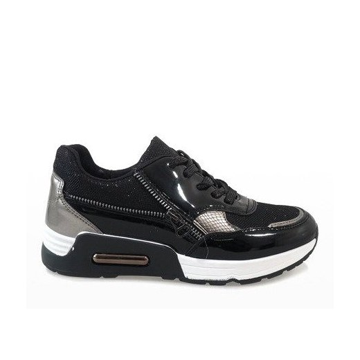 Buty sportowe damskie Butymodne sneakersy w stylu młodzieżowym skórzane gładkie