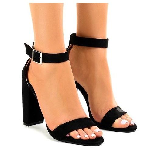 Sandały damskie Butymodne bez wzorów eleganckie na wysokim