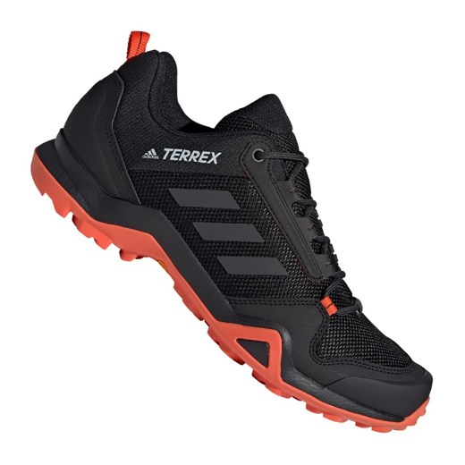Buty sportowe męskie Adidas terrex czarne sznurowane w Domodi