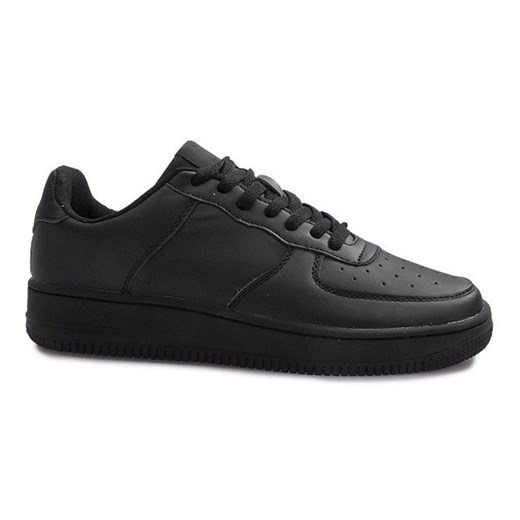 Buty sportowe męskie Nike air force czarne sznurowane