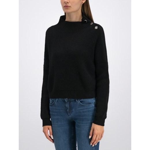 Sweter damski Liu jo na zimę Odzież Damska SM czarny UXDA