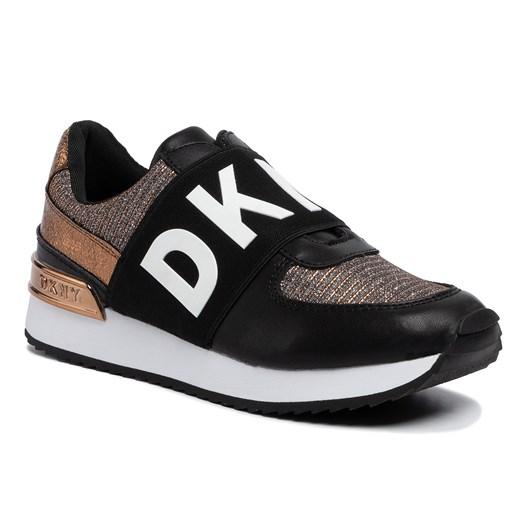 Buty sportowe damskie Dkny bez zapięcia na platformie w Domodi