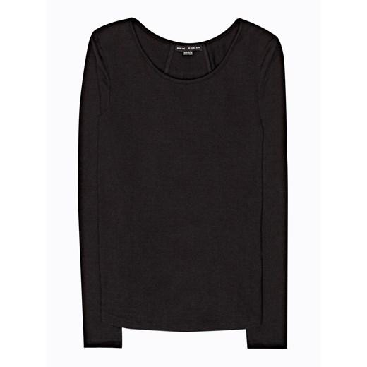 Sweter damski Gate gładki/gładka z okrągłym dekoltem Odzież Damska DF czarny YIUI
