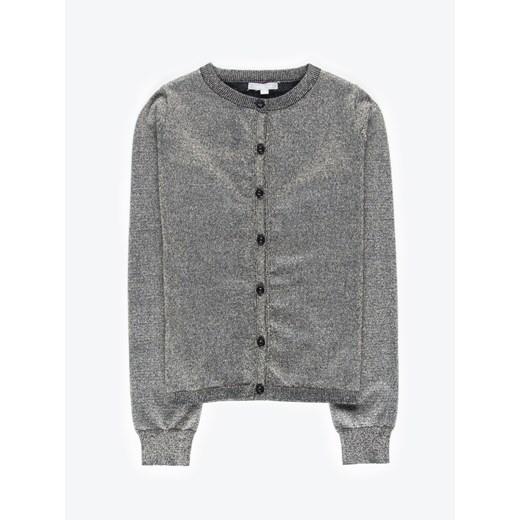 Sweter damski Gate z dekoltem w serek z wiskozy Odzież Damska GT czarny QDFU