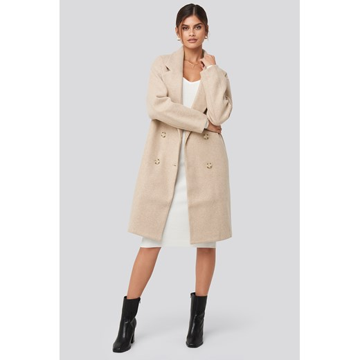 Adorable Caro x NA-KD Long Double Breasted Coat - Beige  Adorable Caro X Na-kd 38 NA-KD