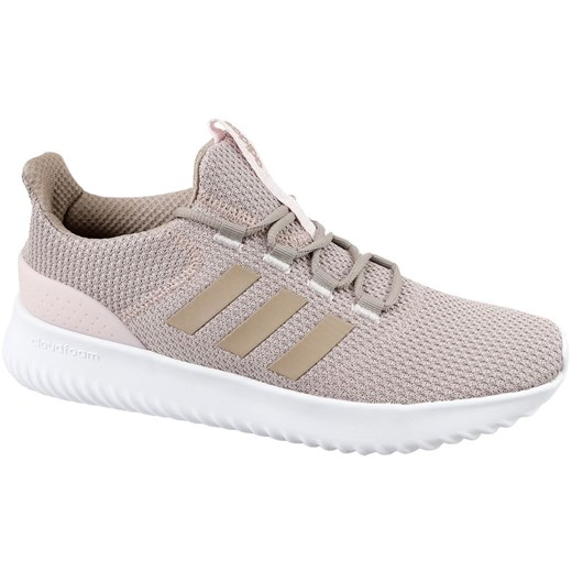 Buty sportowe damskie Adidas dla biegaczy w stylu młodzieżowym cloudfoam różowe na koturnie gładkie