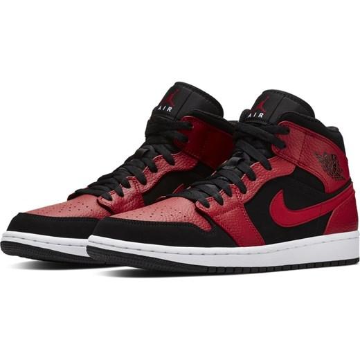 Buty sportowe męskie Nike air jordan ze skóry sznurowane w