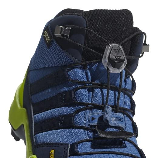 Buty zimowe dziecięce Adidas niebieskie gładkie