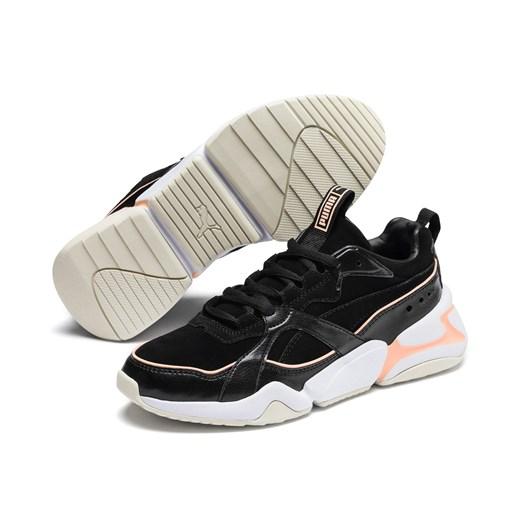 Buty sportowe damskie Puma casualowe młodzieżowe czarne
