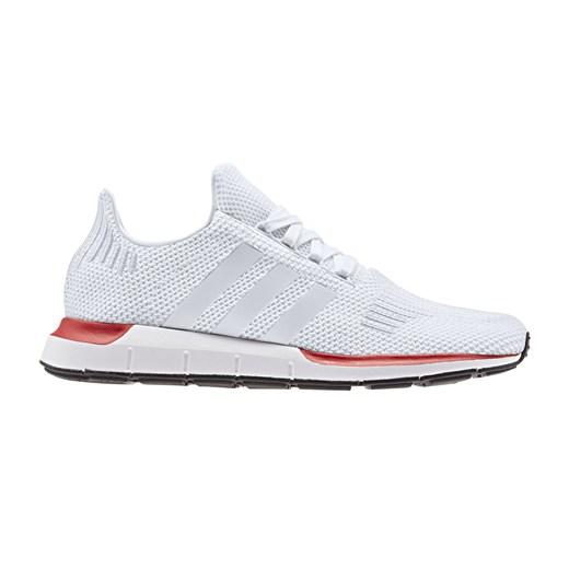 Białe buty sportowe męskie Adidas z tkaniny w Domodi