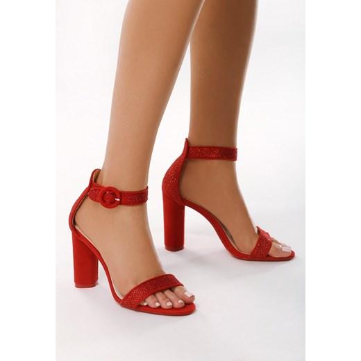 Sandały damskie Born2be na słupku eleganckie na wysokim