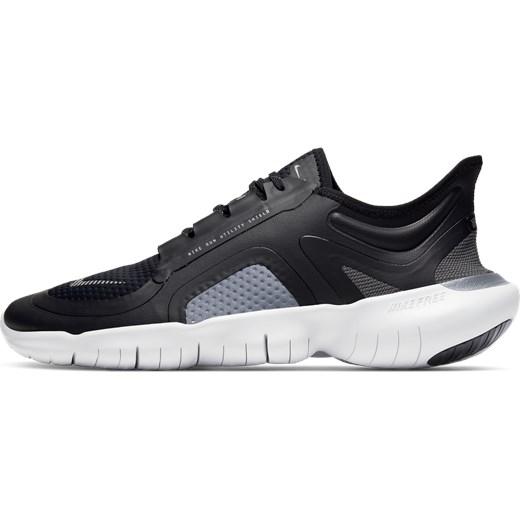 Szare buty sportowe męskie Nike free run tkaninowe sznurowane