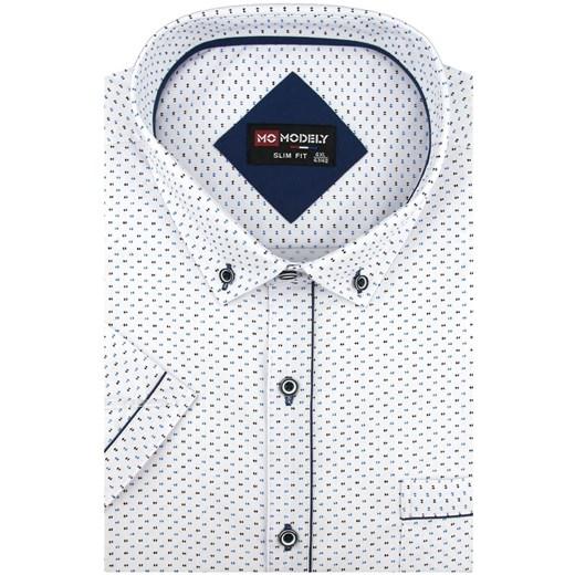 Koszula męska Modely z tkaniny z kołnierzykiem button down w  RGQXT