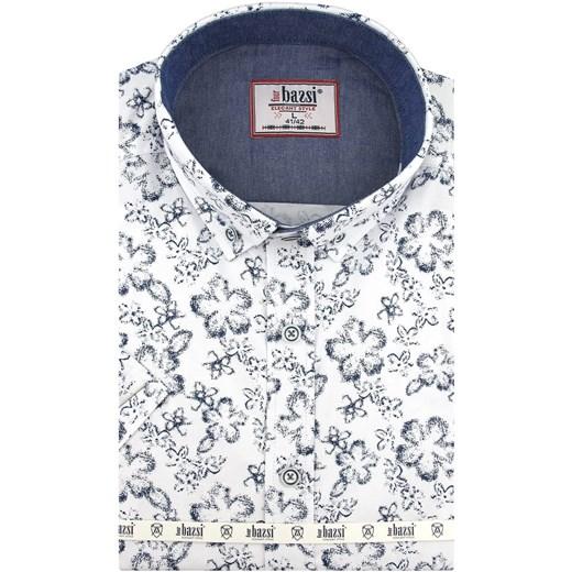 koszule męskie krótki rękaw slim szerokość 47