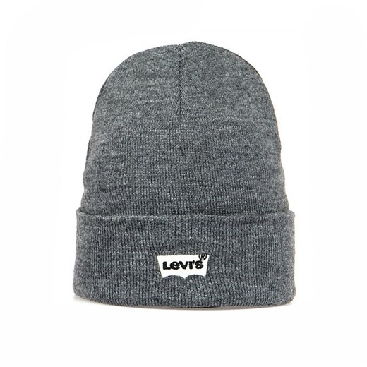 Czapka zimowa Levi's Batwin Embroidered Beanie grey heather Levis Red Tab  uniwersalny bludshop.com
