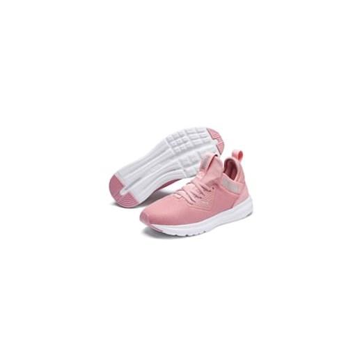 Puma buty sportowe damskie do fitnessu młodzieżowe różowe płaskie sznurowane z tkaniny w nadruki