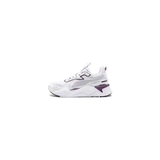 Buty sportowe damskie Puma skórzane sznurowane bez wzorów