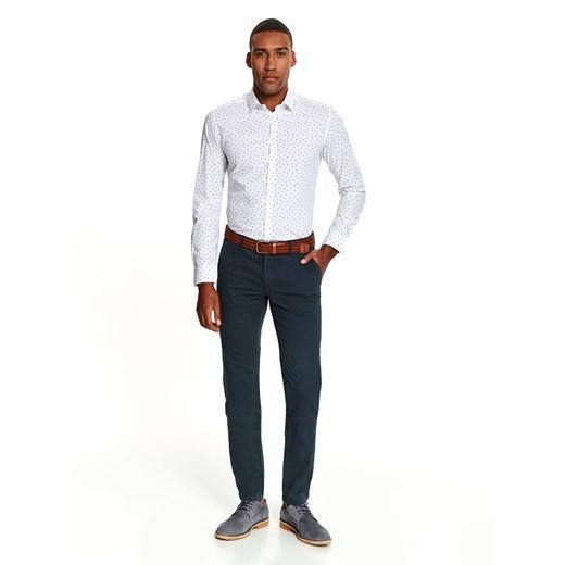 Koszula męska biała Top Secret tkaninowa w Domodi  kBoZN