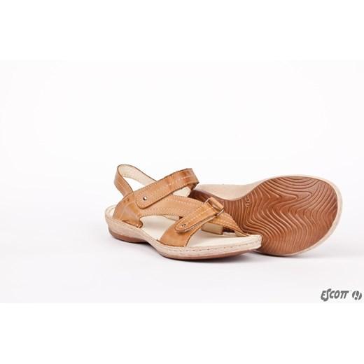 Sandały damskie Escott ze skóry w Domodi