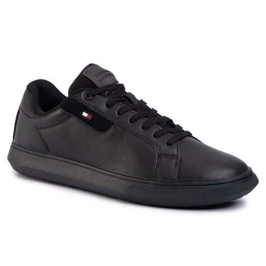 Sneakersy TOMMY HILFIGER - Essential Leather Cupsole FM0FM02581  Black BDS