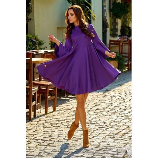 Sukienka Lemoniade - Lizz Odzież Damska LB fioletowy JVJW