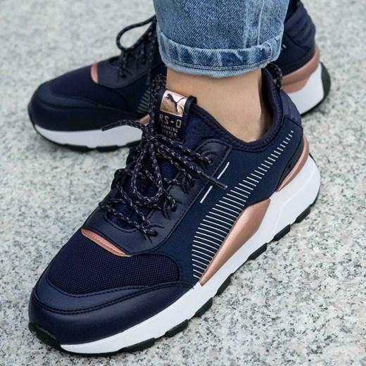 Buty sportowe damskie Puma na wiosnę skórzane gładkie w Domodi