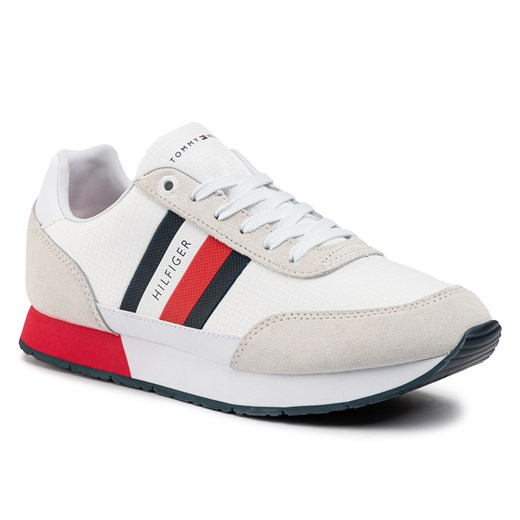 Sneakersy TOMMY HILFIGER - Corporate Mix Flag Runner FM0FM02601 White YBS