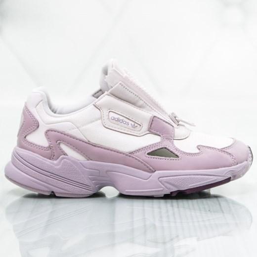 Buty sportowe damskie Adidas na platformie na wiosnę wiązane
